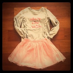 Kate Spade Ruffle Sweatshirt and Tulle Skirt